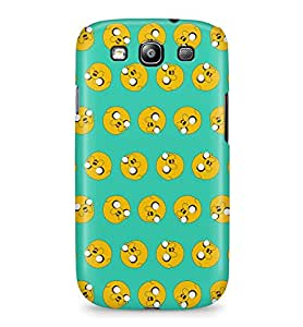 Adventure Time Jake The Dog Pattern Hard Plastic Snap-On Case Skin Cover For Samsung Galaxy S3