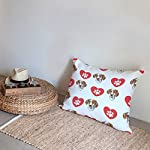 Style In Print Personalized Pillow Case Ariege Pointer Dog Heart Paws Polyester Pillow Cover 20INx28IN Design Only Set of 2 10
