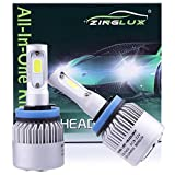 bmw 328i headlight switch - ZX2 H11 H8 H9 8000LM LED Low Beam or High Beam Headlight Conversion Kit,Fog Driving Light,Replacing Halogen Headlamp All-in-One Conversion Kits,COB Tech,6500K Xenon White, 1 Pair with 1 Year Warranty