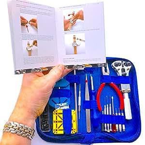 "EZTool Professional Watch Repair Tool Kit: Plus 41-Page Illustrated ""Maintenance & Service"" Manual"