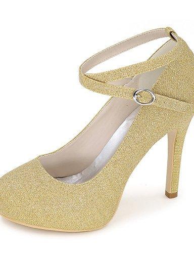 GGX/Damen Schuhe Glitter Frühjahr/Sommer/Herbst, Round Toe Heels Hochzeit/Party & Abend/Kleid 4in-4 3/4in-golden