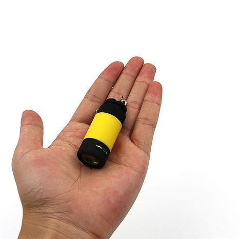 Sansee Mini linterna LED de bolsillo llavero linterna ...