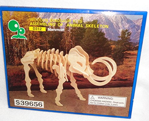 Wooden Dinosaur Kits Assembling of Animal Skeleton, Mammoth (Kit Skeleton Wooden)