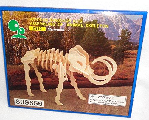 Wooden Dinosaur Kits Assembling of Animal Skeleton, Mammoth (Kit Wooden Skeleton)