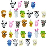 Animal Finger Puppets | Soft Velvet Cute Assorted Animals | Mini Prop Dolls Story Time, Shows, School Playtime | Party Favors, Goodie Bag Fillers | Baby, Children, Kids Educational Toy Set (30 Piece)