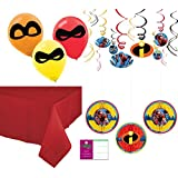 Incredibles 2 Party Supplies Decoration Kit - Balloons, Hanging Decor