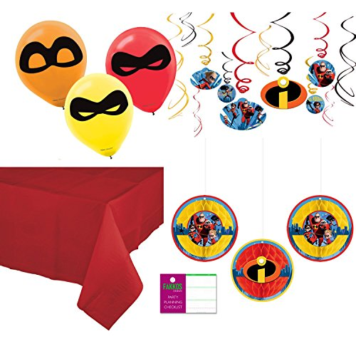 Incredibles 2 Party Supplies Decoration Kit   Balloons  Hanging Decor