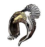 Sattaj Unique Flying Eagle Biker Ring Vintage Open Ring