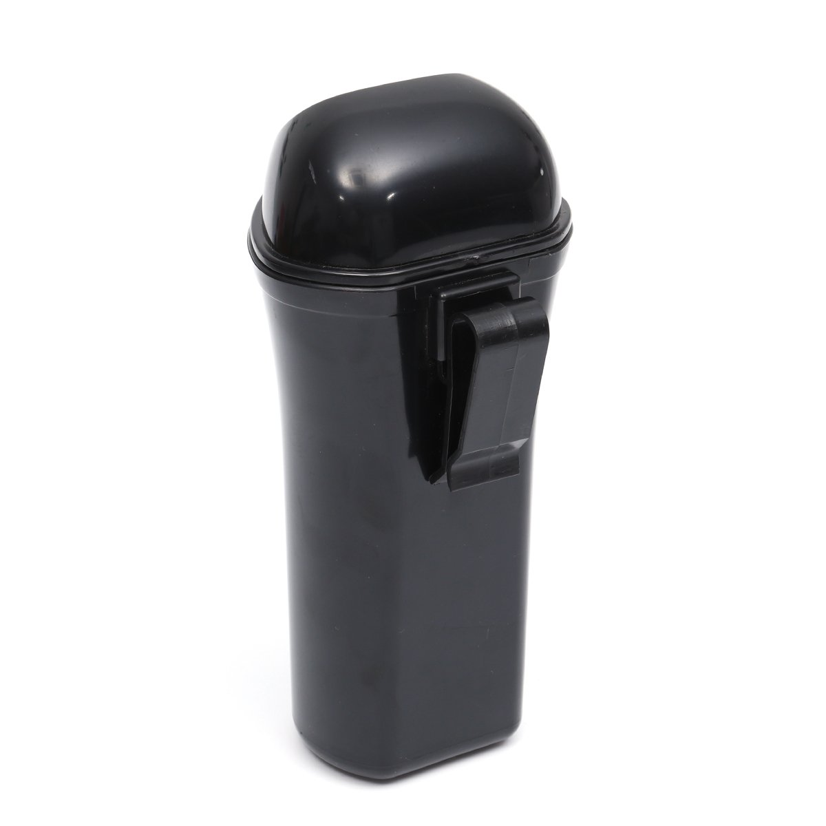 Black LIOOBO Mini Car Trash Can Bin with Lid Auto Dustbin Organizer Leakproof Vehicle Trash Bin Garbage Can