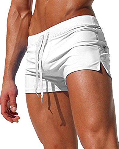 Malavita Mens Swim Shorts Slim Wear with Pocket (M, ()