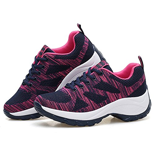 Dark Athletic Running Blue Sneakers Sports Lightweight Walking Womens Breathable JINGJING Shoes SzwAZqTx