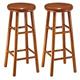 Cheap Winsome Wood Assembled 31-Inch Cherry Finish Swivel Stools, Set of 2
