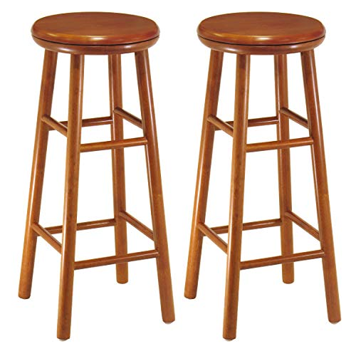 Winsome Wood Assembled 31-Inch Cherry Finish Swivel Stools, Set of 2