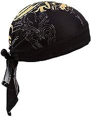Sweat Wicking Beanie Skull Cap Adjustable Cycling Hat Wrap Dew Rag Women Men