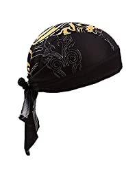 Absorptive Moisture Sweat Wicking Dew Rag Beanie Cooling Skull Cap Quick Dry Adjustable Hat Bandana Head Wrap for Men Women Outdoor Sport Cycling Riding Skiing Motorcycling Trekking Climbing, Dragon