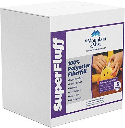 Mountain Mist Fiberfill - Mountain Mist 10024197 Fiberfill Super Fluff 5Lb Box