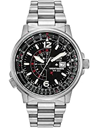 Men's Eco-Drive Promaster Nighthawk Dual Time Watch with Date, BJ7000-52E