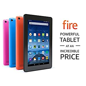 "Fire Tablet with Alexa, 7"" Display, 8 GB, Magenta - with Special Offers"