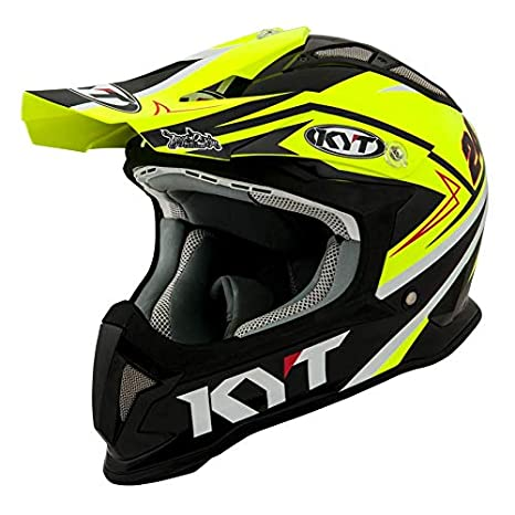 Amazon.es: KYT casco Moto Cross off-road Strike Eagle, Simpson ...