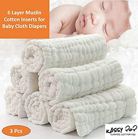 Washable Baby Cloth Diaper Nappy Liner Insert 100/% Microfiber Pack of 6