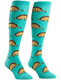 Tacosaurus, Women's Knee-High Funky Socks, Taco Dinosaur Socks