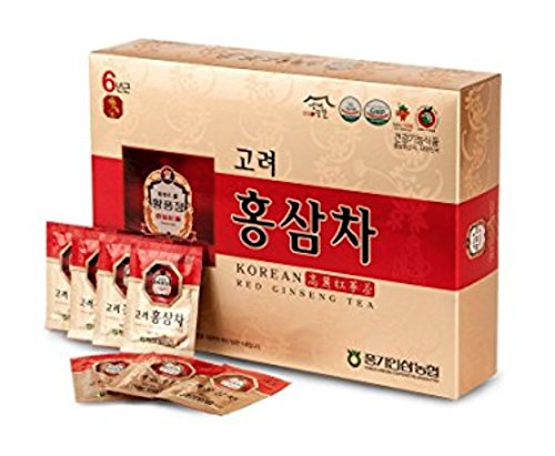 Korean Red Ginseng Tea Packets 3g x 100 - All Natural Health Energy Stamina Booster - Immune System Boost - Punggi (Best Korean Ginseng Tea)