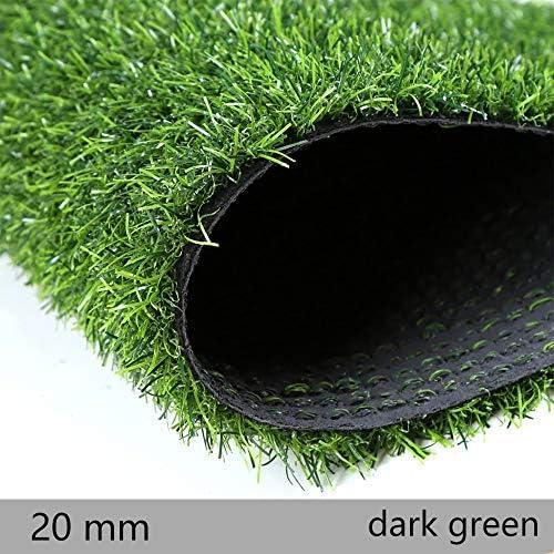 GAPING 3色で利用できる屋内屋外の景色のために適した暗号化の人工的な草の人工的な芝生刃の高さ20 Mmの金庫および無毒 (Color : Dark green, Size : 1x3m)