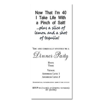 amazon com cafepress funny 40th birthday invitations glossy