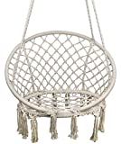 TOPWAY Hammock Chair Macrame Swing, 330 Pound Capacity, Hanging Chair with Cotton Rope for Indoor, Outdoor, Home, Patio, Deck, Yard, Garden Review