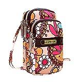 Women Small Mini Wallet Holder Zip Coin Purse Clutch Handbag Women's Fashion Printing Zipper Sport Shoulder Bag Mini Wrist Purse Lightweight Sport Bag (E)