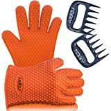 Barbecue Gloves & Pulled Pork Claws Set ♦ Silicone Heat Resistant Grilling Accessories & Home Kitchen Tools For Your Indoor & Outdoor Cooking Needs ♦ Use as BBQ Meat Turner or Oven Mitts
