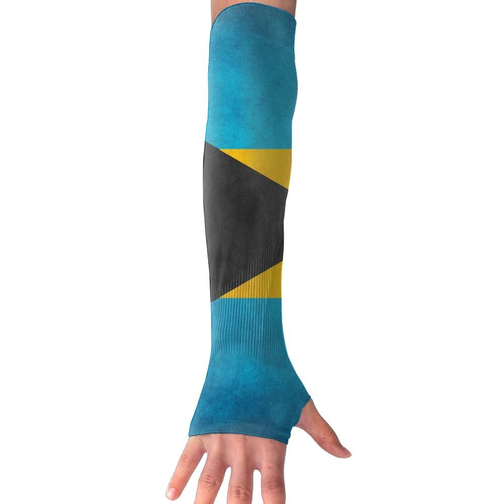 Retro Style Bahamian Honourable Flag Sun Sleeves,UV Protection Cooling Arm Sleeves For Men Women (1 Pair)