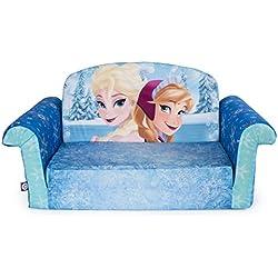 Marshmallow Furniture, Children's 2 in 1 Flip Open Foam Sofa, Disney Frozen