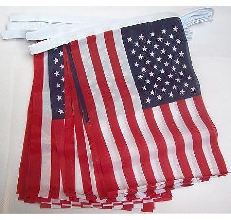 AZ FLAG Guirnalda 4 Metros 20 Banderas de los Estados Unidos 15x10cm - Bandera Americana - USA - EE.UU 10 x 15 cm - BANDERINES: Amazon.es: Hogar
