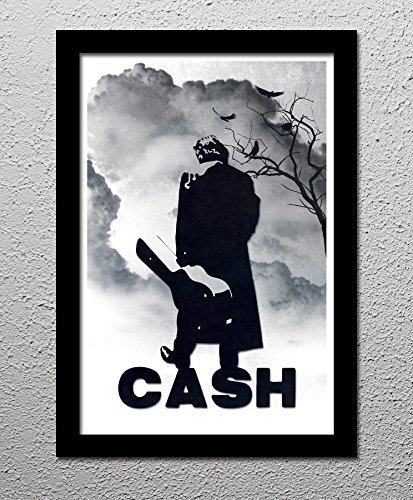 Johnny cash original minimalist art poster print country music