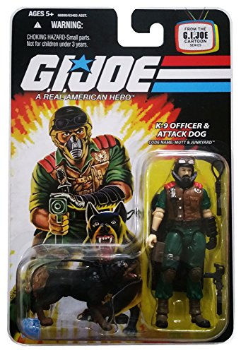 G.I. Joe 25th Anniversary Cartoon Series: Mutt and Junkyard (K-9 Officer and Attack Dog) 3 3/4 Inch Action Figure