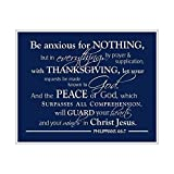 Be Anxious for Nothing Poster, Philippians 4, 6:7