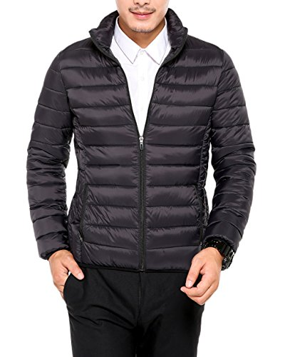 Pillow Collar Down Jacket (Men's Light Jacket Stand Collar Packable Down)