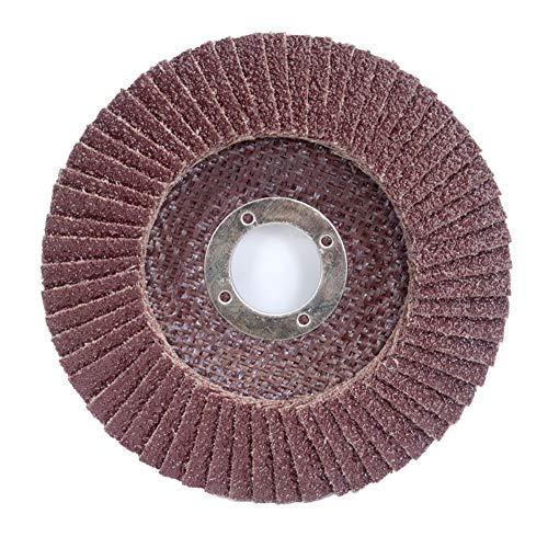 Merit Powerflex Contoured Abrasive Flap Disc, Type 29, Round Hole, Fiberglass Backing, Aluminum Oxide, 4-1/2