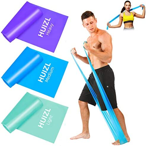 Resistance Bands Set, [Set of 3] Skin-Friendly Resistance Fitness Exercise Workout Resistance Bands for Women Men with 3 Different Resistance Levels Included for Home Gym Yoga Training and Strength
