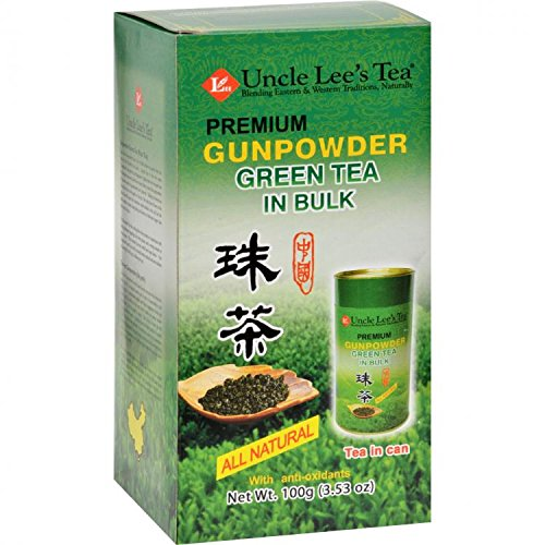 Premium, Gunpowder Green Tea in Bulk, 5.29 g (150 g) by Uncle Lees Teas