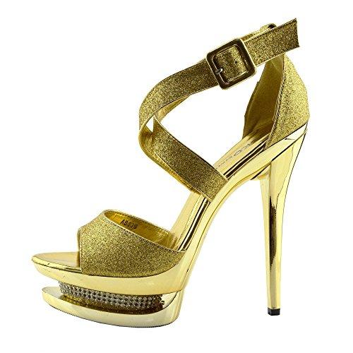 Charmaine Scarpe Piattaforma Pole Footwear Ab836 Donna Della Gold Alti Chiaro Perspex Dancing Kick Tacchi FHEx1qP1w
