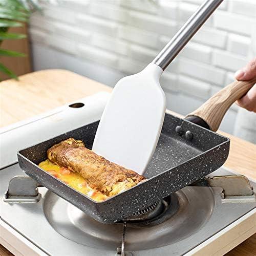 CUzzhtzy Acier Inoxydable Frying Pan, Noir antiadhésive, Frying Pan Enduit de Pierre Peut être utilisé for Poêle au gaz