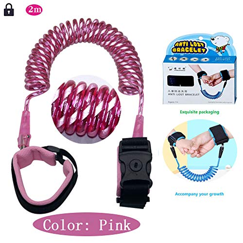 Wrist Fractures (Reflective Anti Lost Wrist Link 2M with Choice Child Lock or No, Safe Anti Lost Rope Walking Harness, Coarse Steel Wire, Metal Rotary Head, Reflective Warning Large Area Buffer Cloth Anti Lost Wrist)