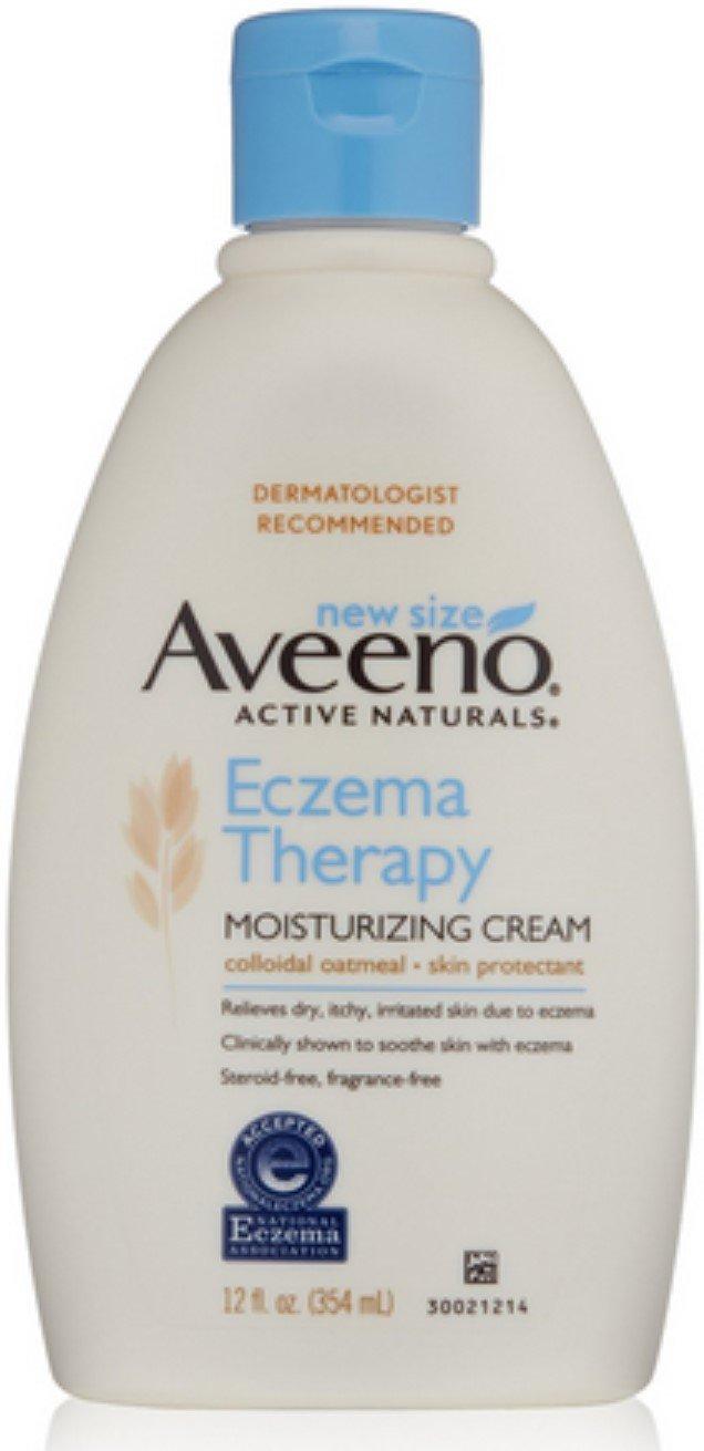 Aveeno Active Naturals Eczema Therapy Moisturizing Cream, 12 oz (6 Pack)