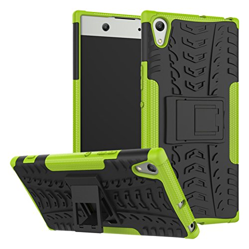 Sony Xperia XA1 Ultra case,Yiakeng Shock Absorbing Dual Layer Protective Fit Armor Case Cover Shell for Samsung Xperia XA1 Ultra Dual, Sony G3212, Sony G3226 6 (Green)