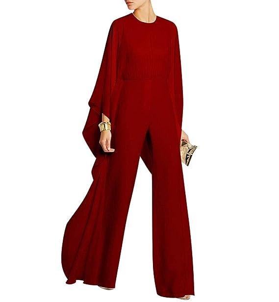 Amazon.com: Traje de mujer elegante de gasa con patas largas ...