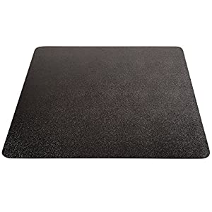 Deflecto EconoMat Black Chair Mat, Low Pile Carpet Use, Rectangle, Straight Edge, 46 x 60 Inches (CM11442FBLKCOM)