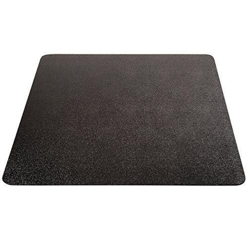 Deflecto EconoMat Black Chair Mat, Low Pile Carpet Use, Rectangle, Straight Edge, 46 x 60 Inches (CM11442FBLKCOM) ()