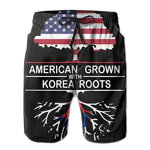 STDKNSK9 Men's American Grown with Korea Roots-1 Boardshorts Beach Pants